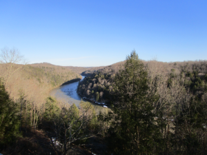 Cumberland River at Cumberland Falls State Resort Park January 2016