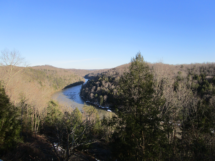 Cumberland River at Cumberland Falls State Resort Park