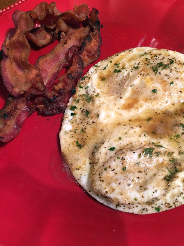 Eggs with Browned Butter and Bacon