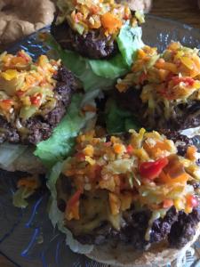 Pepper Relish on Hamburgers