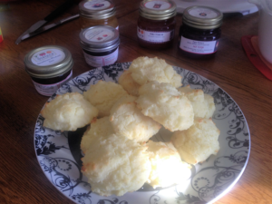 Two Sisters Jams with Gluten Free Biscuits