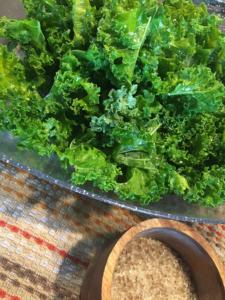 Kale and Bourbon Smoked Sea Salt