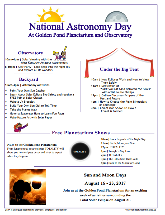 National Astronomy Day at Golden Pond (Land Between the Lakes)