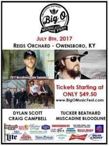 2017 Big O Music Fest Lineup