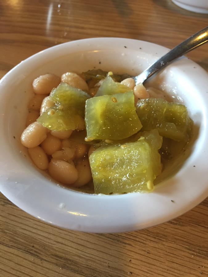 Beans and Green Tomato Relish