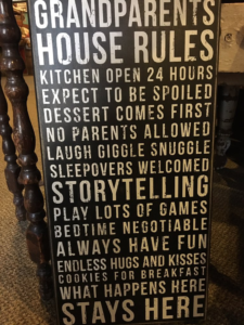 Grandparent's Sign at the Hitching Post