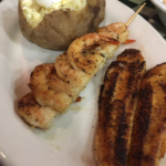 Grilled Shrimp and Blackened Catfish at The Pond in Aurora
