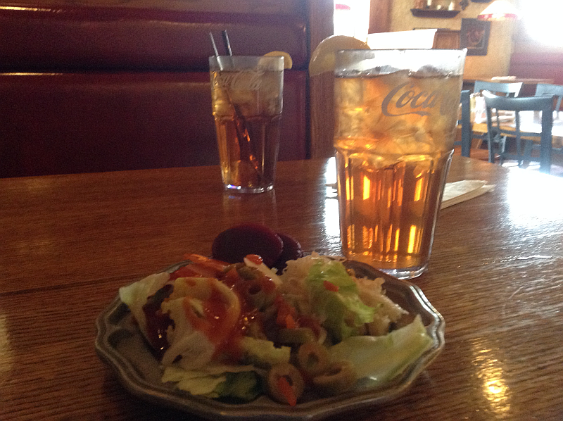 The Majestic Salads and Iced Tea