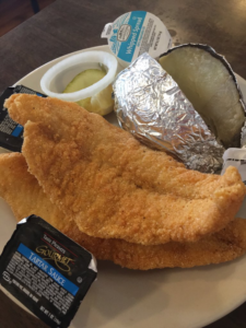 The Front Porch Fried Catfish and Baked Potato